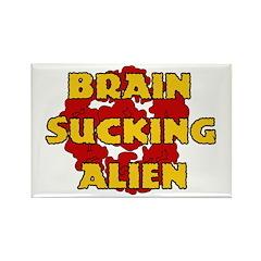 Brain Sucking Alien Rectangle Magnet (10 pack)