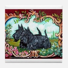 Scottish Terrier Pair Tile Coaster