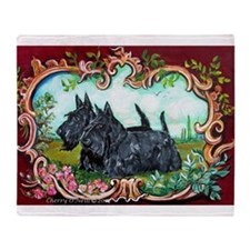 Scottish Terrier Pair Throw Blanket