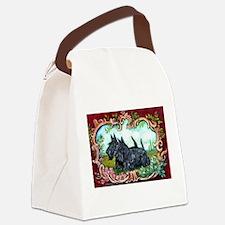 Scottish Terrier Pair Canvas Lunch Bag