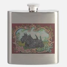 Scottish Terrier Pair Flask