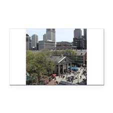Quincy Market in April Rectangle Car Magnet
