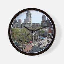 Quincy Market in April Wall Clock