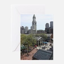 Quincy Market in April Greeting Card