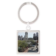 Quincy Market in April Square Keychain