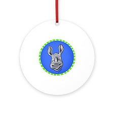 KiniArt Rhino Circle Round Ornament