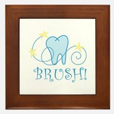 BRUSH ! Framed Tile