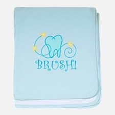 BRUSH ! baby blanket