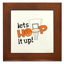 Lets Hoop It Up Framed Tile