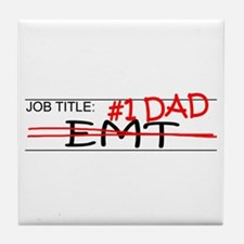 Job Dad EMT Tile Coaster