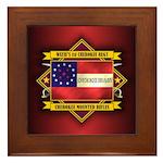 1st Cherokee Regt (5.1).png Framed Tile