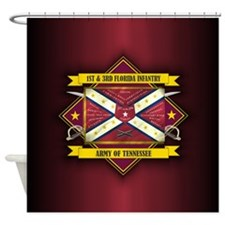 1st 3rd Florida (Flag 5.1).png Shower Curtain