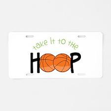 Too The Hoop Aluminum License Plate