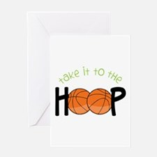 Too The Hoop Greeting Cards