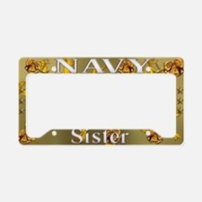 Harvest Moons Navy Sister License Plate Holder