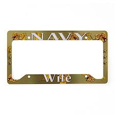 Harvest Moons Navy Wife License Plate Holder