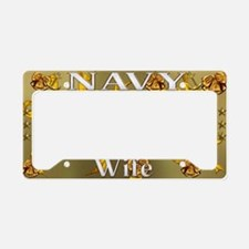 Harvest Moons Navy Wife License Plate Holder