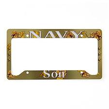Harvest Moons Navy Son License Plate Holder