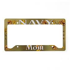 Harvest Moons Navy Mom License Plate Holder