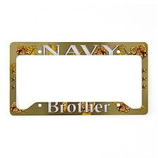 Harvest Moons Navy Brother License Plate Holder