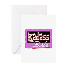 Badass Babe Greeting Cards