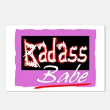 Badass Babe Postcards (Package of 8)