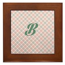Monogram B Framed Tile