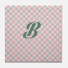 Monogram B Tile Coaster