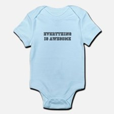 Everything is awesome - black text Body Suit