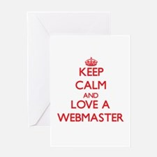 Keep Calm and Love a Webmaster Greeting Cards