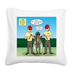 Bug Patrol Square Canvas Pillow
