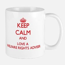 Keep Calm and Love a Welfare Rights Adviser Mugs