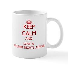 Keep Calm and Love a Welfare Rights Adviser Mugs