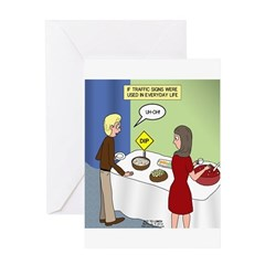 Dip Warning Greeting Card