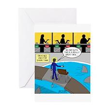 TV Show Bad Ideas Greeting Card