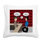 Snowman of the Apes Square Canvas Pillow