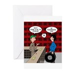 Snowman of the Apes Greeting Cards (Pk of 10)