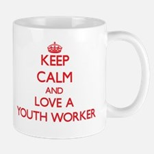 Keep Calm and Love a Youth Worker Mugs