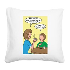 Fathers Day Discovery Square Canvas Pillow