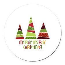 Merry merry christmas! Round Car Magnet