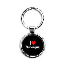 Burlesque Round Keychain