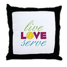 Live Love Serve Throw Pillow