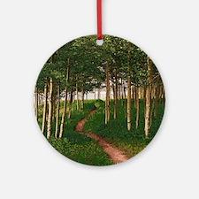 Cute Aspen grove Round Ornament