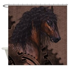 Steampunk Horse Shower Curtain