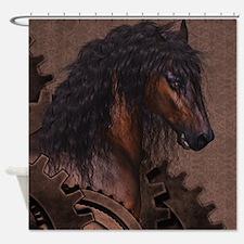 Steampunk Horse Shower Curtain
