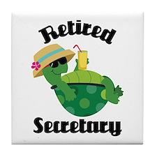 Retired Secretary Tile Coaster