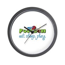 Eat Sleep Play Wall Clock