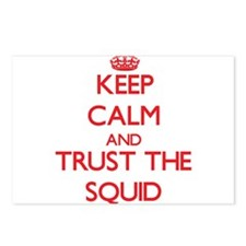 Keep calm and Trust the Squid Postcards (Package o