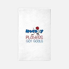 Hockey Players Got Goals 3'x5' Area Rug