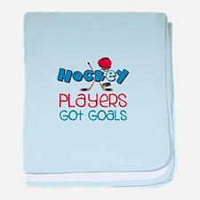 Hockey Players Got Goals baby blanket